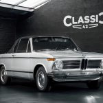 photo of a 1970 grey BMW 1602 convertible for sale by Classic 42 a classic german car dealer based in Brussels www.classic42.be