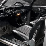 photo of the interior of a 1970 grey BMW 1602 convertible for sale by Classic 42 a classic german car dealer based in Brussels www.classic42.be