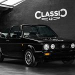 Photo d'une VW Golf Cabriolet Quartet noire de 1991 en vente chez Classic 42 Classic German Car Dealer www.classic42.be