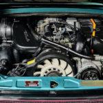 photo du moteur d'une Porsche 964 Carrera 2 Cabriolet Turbo Look de 1992 en vente chez Classic 42 | Spécialiste Porsche Classique en Belgique