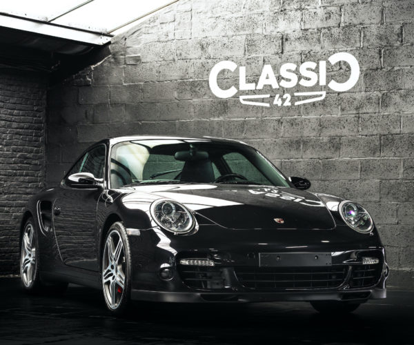 photo of a 2007 black 997 Porsche Turbo sold by Classic 42 the classic porsche specialist belgium