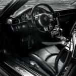 PHOTO D'UNE PORSCHE 997 TURBO noire de 2007 en vente chez CLASSIC 42 | LE SPECIALISTE DES PORSCHES CLASSIQUES EN BELGIQUE