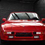 Porsche 944 de 1986 rouge indien belle occasion chez Classic 42 Belgique